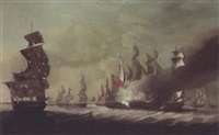 engagement between an english and a french squadron by john askew