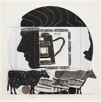 untitled (andy with cows) by ray johnson