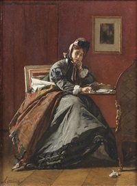 trahie, perplexite by alfred stevens