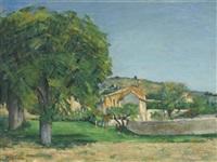 marronniers et ferme du jas de bouffan by paul cézanne