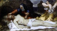 la mise au tombeau by joseph-benoit guichard
