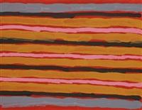 peinture ceremonielle au sol / ceremonial ground painting by clifford possum tjapaltjarri