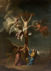 le christ en croix by karel dujardin