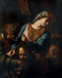 judith donnant la tête d'holopherne à sa servante abra by antoine rivalz