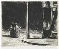a corner by edward hopper