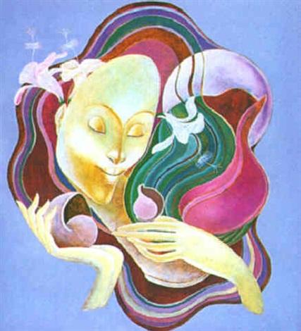 femme auréolée by bernard séjourné