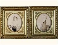 héracle charles alexandre, comte de polignac (+ caroline de la boëssière-chambors, comtesse de polignac; pair) by henri-joseph hesse