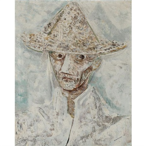 homem com chapeu man with hat by candido portinari