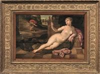 allegoria della vanitas con narciso sullo sfondo by vincent sellaer