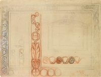 three studies of and designs for frames by william holman hunt