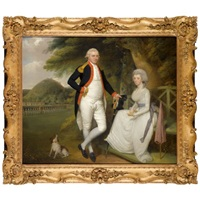 double portrait of lieutenant-colonel william sydenham and his wife amelia prime by robert home