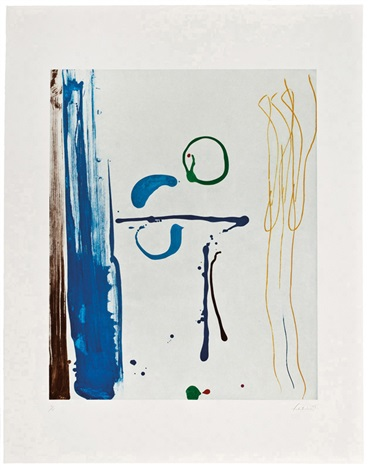 sunshine after rain by helen frankenthaler