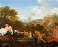 nymphen beim bade by cornelis van poelenburgh