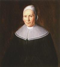 portrait of a woman by dirck dircksz van santvoort