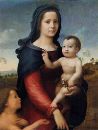 the madonna and child with the infant saint john the baptist by giuliano bugiardini