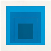 wls xiii (white line squares series ii) by josef albers