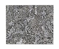 paysage avec sept personnages by jean dubuffet