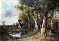 femmes près de l'étang by paul armandi