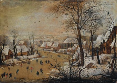 la trappe aux oiseaux by pieter brueghel the younger