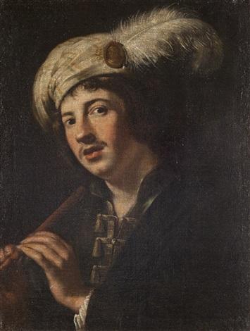 giovane che suona il flauto by michelangelo merisi da caravaggio