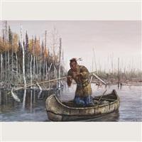 travelling odjibway family (+ ottawa fisherman; pair) by hubert wackermann