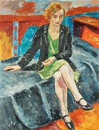 flicka med cigarett (girl with cigarette) by birger simonsson