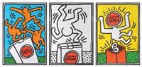 lucky strike - ensemble de trois by keith haring