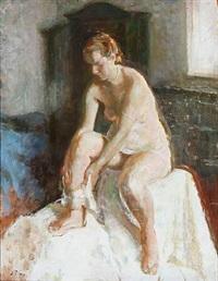 a female model by julius paulsen