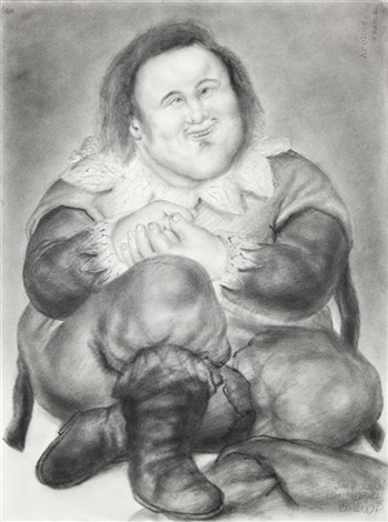 juan de calabazas after velazquez by fernando botero