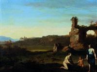 vénus et cupidon by cornelis van poelenburgh