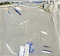 sydney harbour in the rain by brett whiteley