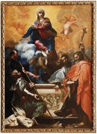 assunzione della vergine con cinque santi by clemente bocciardo (il clementone)