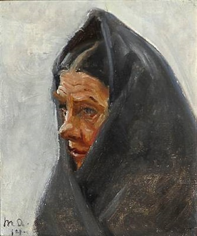 a woman study by michael peter ancher