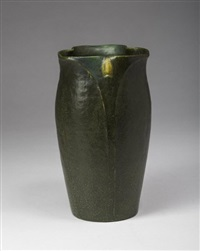 green-glazed vase by wilhelmina post