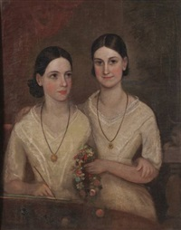 a portrait of two sisters by frederick strange
