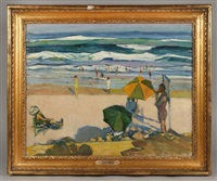 sunny beach, ogunquit, maine by gertrude fiske