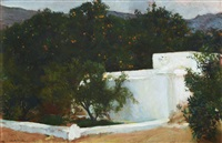 naranjos, el camino del mar, valencia (orange trees on the road to the sea, valencia) by joaquin sorolla y bastida