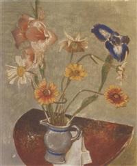 opstilling med blomster by georg jacobsen