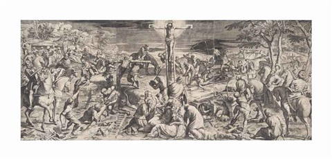 the crucifixion by agostino carracci