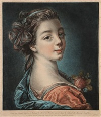 tête de femme (after boucher) by louis marin bonnet