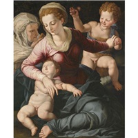madonna and child with st. anne and infant st. john the baptist by agnolo bronzino