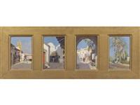 quattro scene orientaliste (4 works) by michele cortegiani