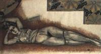 femme nue allongée by lucien voguet
