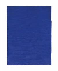 monochrome bleu sans titre (ikb 283) by yves klein