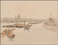 st. paul's and the thames by robert eadie
