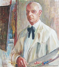 portrait of john weeks by alison pickmere