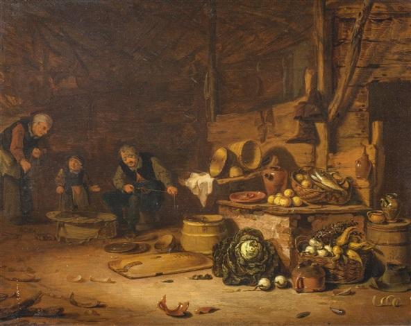Interieur mit Bauernfamilie von Egbert Lievensz van der Poel auf artnet