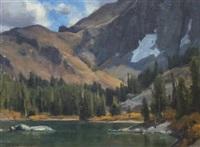 lake scene by clyde aspevig