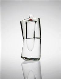 unique vase, model no. 35, from the 'cristallo sommerso' series by yoichi ohira