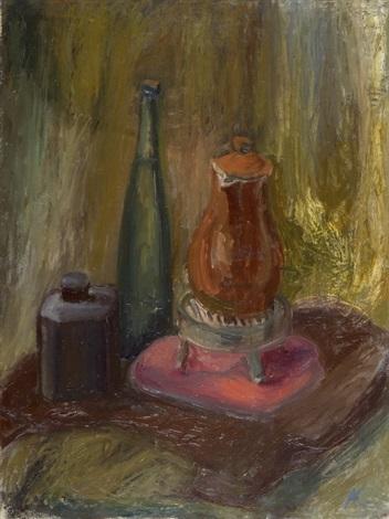 stillleben mit flasche und kanne by alexander camaro
